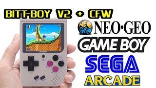 """BITT-BOY V2 """"Mini Game Boy"""" review with CFW v3.2"""