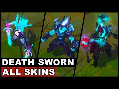 All New Death Sworn Skins Zed Katarina Viktor Death Sworn Halloween/Harrowing Skins (LoL)