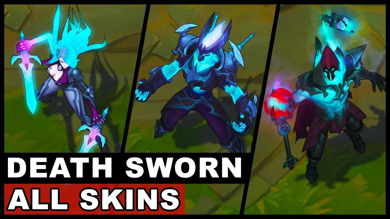 All New Death Sworn Skins Zed Katarina Viktor Death Sworn ...