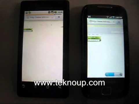 Milestone vs Samsung Galaxy 551 Browser Fighting Via Wi Fi