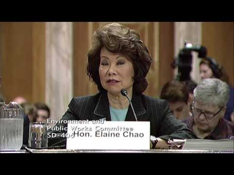 Chairman Barrasso Questions Secretary Chao on Timeline of the Infrastructure Package