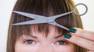 How to Trim & Style Bangs at Home!! Easy DIY