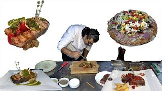 Turkish Restaurant Foods Meat Fish Combination And Pizza Recipes