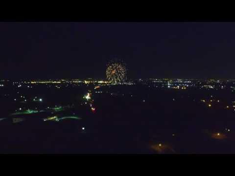 Sunnyvale Fireworks drone flight 2016