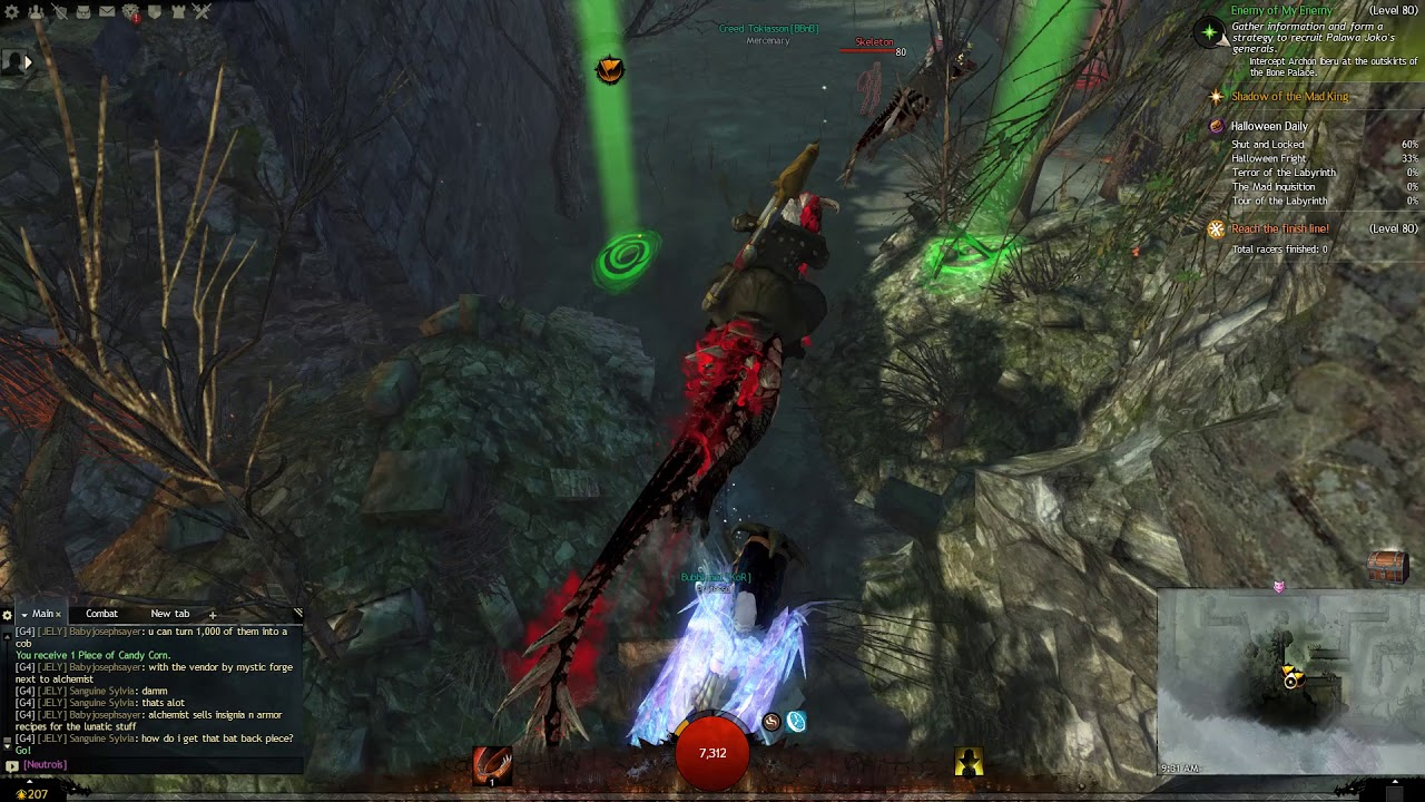 Guild Wars 2 Halloween Event Labyrinth Race - YouTube