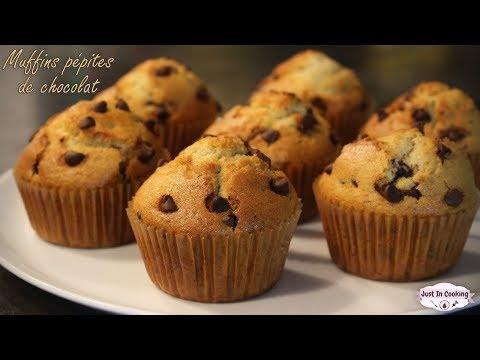 recette-des-muffins-aux-pépites-de-chocolat