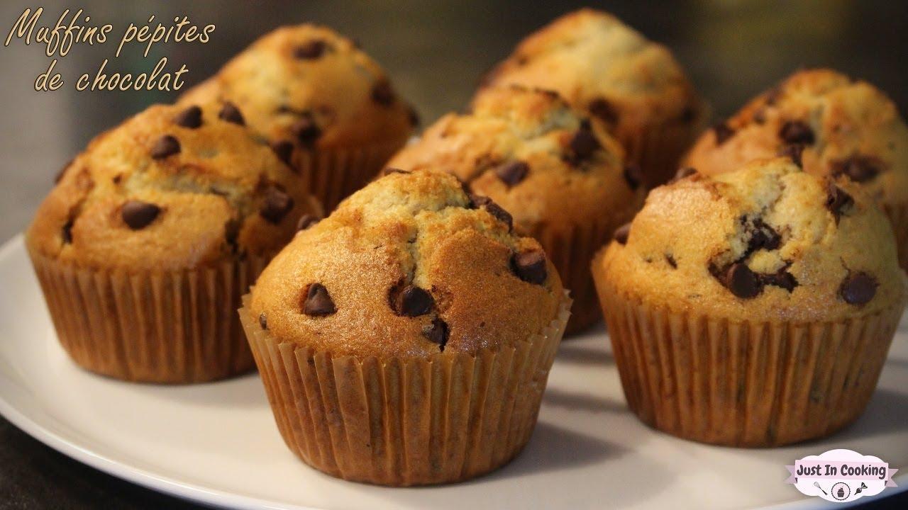 Recette des Muffins aux Pépites de Chocolat - YouTube