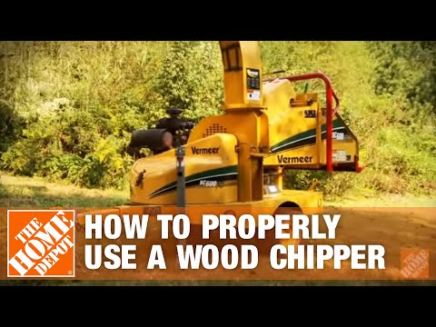How to Properly Use a Wood Chipper | The Home Depot
