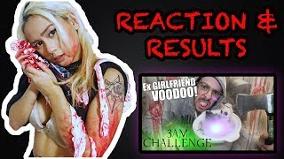 REACTION RESULTS TO DO NOT USE A REAL LIFE EX GIRLFRIEND VOODOO DOLL AT 3AM! 3 AM CHALLENGE