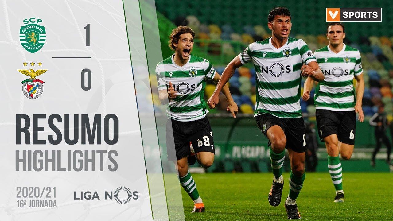 Highlights Resumo Sporting 1 0 Benfica Liga 20 21 16 Youtube