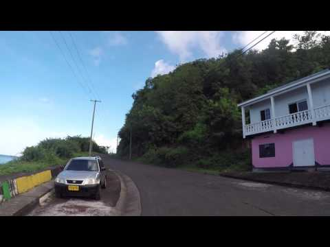 Grenade Route vers Concord waterfall, Gopro / Grenada Road to Concord waterfall, Gopro