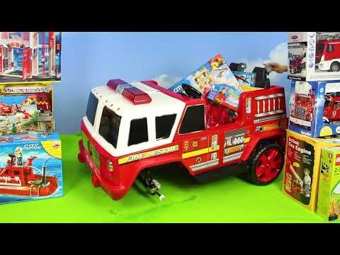 Traktör, Vinç, Ekskavatör Ve Yeni - Itfaiyeci Oyuncak - Polis Arabası Çocuk Excavator Toys