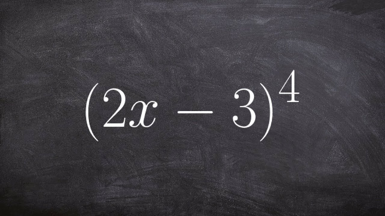 Using binomial expansion to expand a binomial to the fourth degree