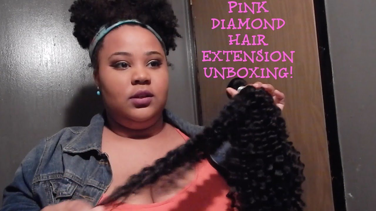 Pink Diamond Hair Extensions Unboxing Youtube
