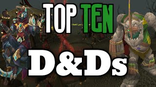 Top 10: Distractions and Diversions - D&Ds [Runescape 2015]