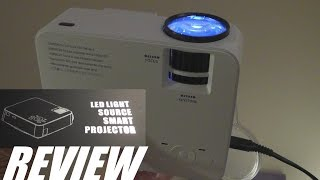 REVIEW: DBPower T20 LED Mini Projector - 1500 Lumens!