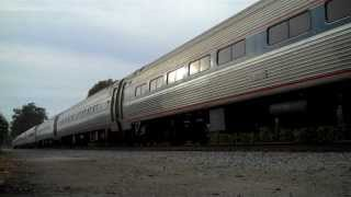 Amtrak Surfliner #1761 and #1790 in Goleta featuring Dash 8 #510 - 2/15/14