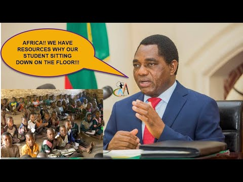 Zambia's President, to give youth Mining License, STOP African Students sitting Down on the floor