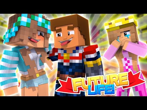 DONNY KISSES HIS EX GIRLFRIEND! Minecraft Future Life w/LittleKelly
