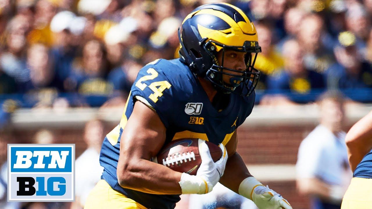 Zach Charbonnet Sets Michigan Freshman TD Record   Michigan Football
