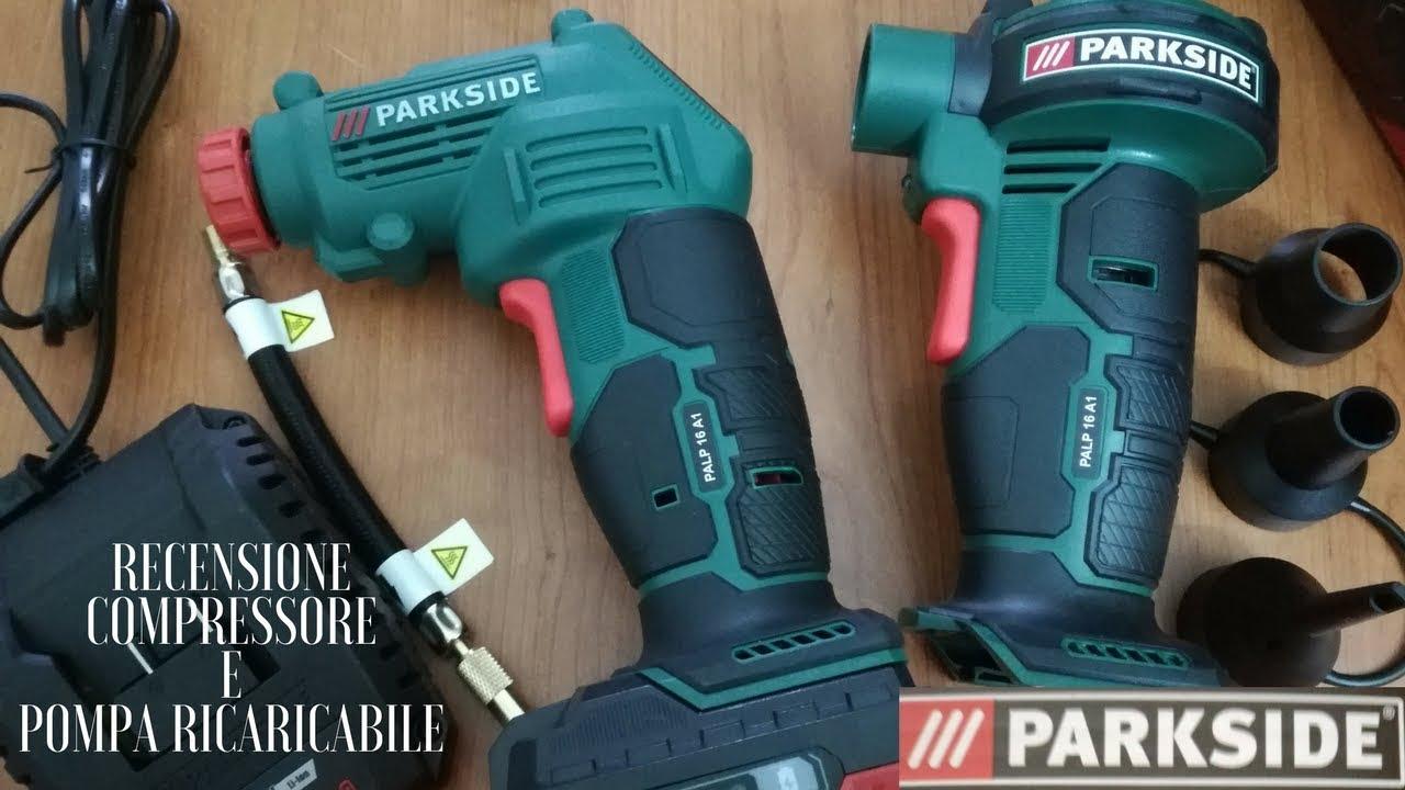 Recensione compressore e pompa ricaricabile parkside youtube for Pistola sparapunti parkside