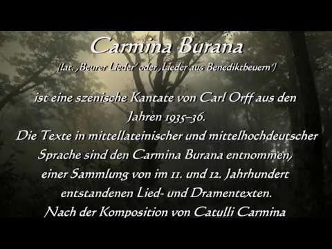 Carl Orff Carmina Burana Fortuna Imperatrix Mundi mit Erklärung / Geschichte