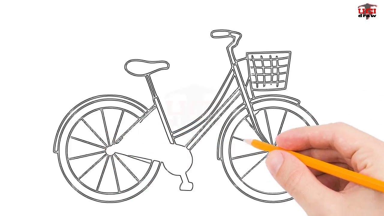It is a photo of Lively Bike Drawing Simple