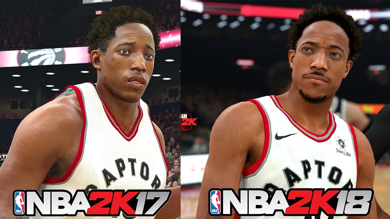 NBA 2K18 vs NBA 2K17 Screen Shots Comparison