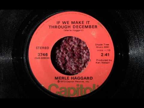"""1973"" ""If We Make It Through December"", Merle Haggard (Vinyl 45)"