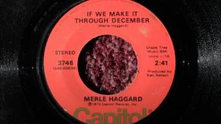 """1973"" ""If We Make It Through December"", Merle Haggard (Vinyl 45)"