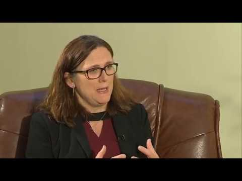 """""""Diplomatic Dimension"""" interview with Cecilia Malmström, European Trade Commissioner"""