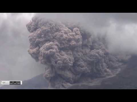 Sinabung Erupts In Spectacular Fashion! - Cosmic Ray Flux - Uptick Continues