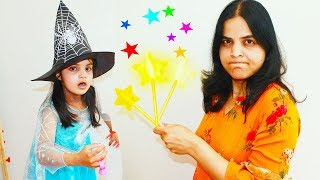 Katie Plays Disney Princess with Magic Wand Toy | story by Katy Cutie Show