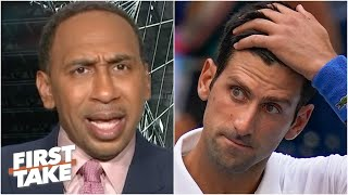 Stephen A. is 'disgusted' by Novak Djokovic's disqualification | First Take