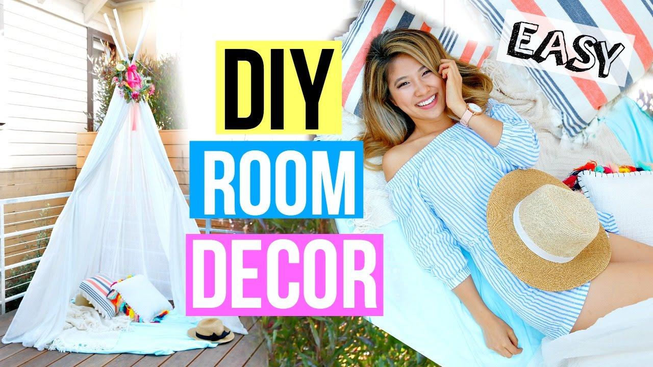 Diy room decor 2016 easy summer fort youtube for Diy room decor 2016