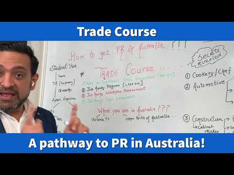 Trade Course:  A Pathway To PR In Australia