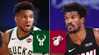 Check out highlights from giannis antetokounmpo, khris middleton and the milwaukee bucks as they look to avoid sweep against jimmy butler, bam adebayo an...