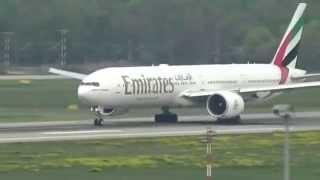 ✈Boeing 777-300ER Emirates✈ takeoff at Düsseldorf International Airport