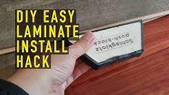 DIY EASY Costco Flooring Harmonics Laminate Install Hack How to Home Depot Lowes Vinyl Sams Club