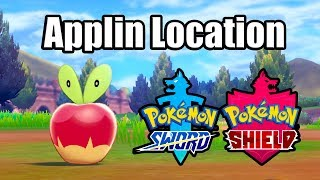 POKEMON SWORD AND SHIELD - Where to find Applin (Wild Applin Location)