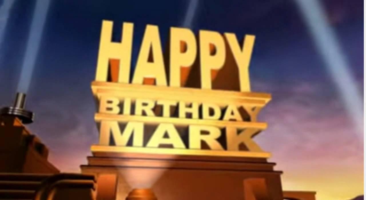 Открытки с днем рождения марк