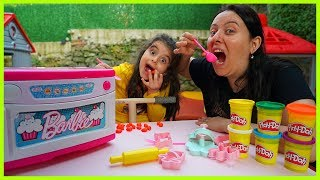 RÜYA İLE OYUN HAMURLARINDAN KURABİYE YAPTIK l MAKING COOKIE WITH PLAY DOH