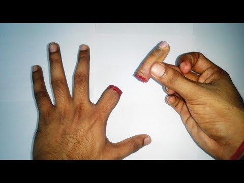 Cutting finger magic trick | cutting finger awesome magic trick - Hand trick art  | Artwork