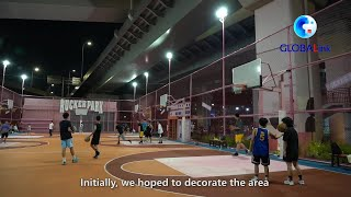 GLOBALink | Space under overpass turned into colorful sports venue in Shanghai