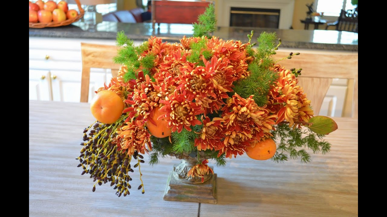 Fall Flower Arrangements For Tables