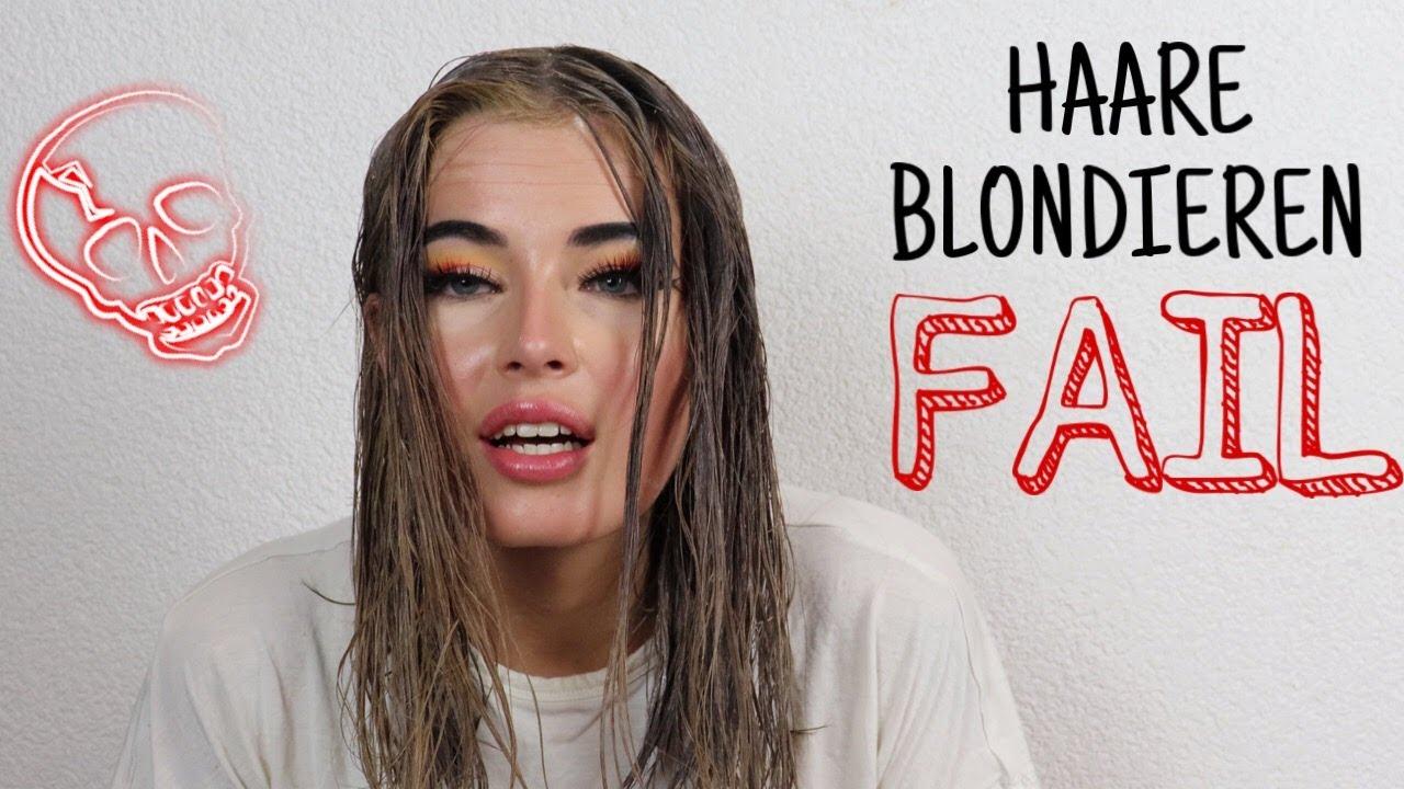 Färben blond schwarz Haare blond