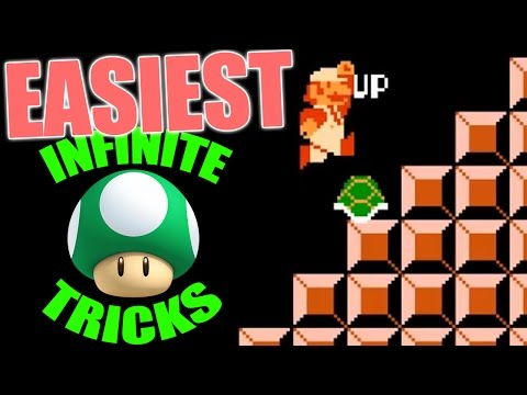 Easiest Infinite Lives Trick in Mario EVER!!