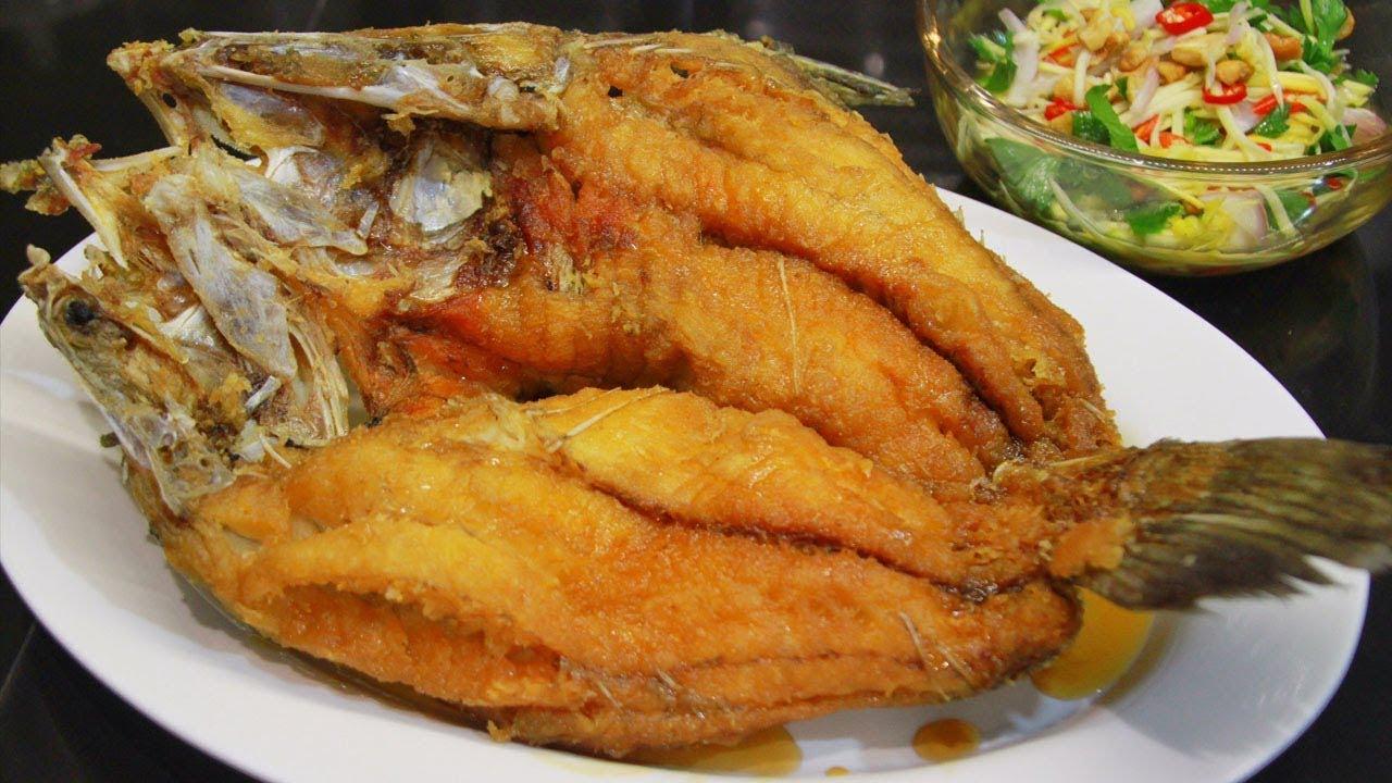ปลากระพงทอดราดน้ำปลา ทำกินเองได้ง่ายๆ สอนละเอียดทุกขั้นตอน อร่อยไม่ต้องง้อร้านดัง l กินได้อร่อยด้วย