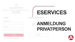 eServices - Anmeldung/Registrierung als Privatperson