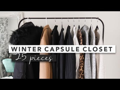 25 Piece Capsule Wardrobe For Winter With Tons Of Outfit Ideas | By Erin Elizabeth